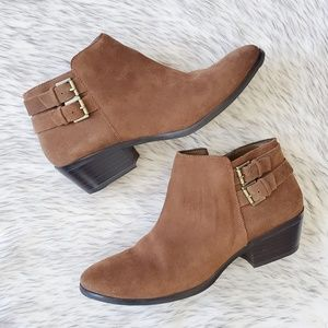 Sam Edelman Petal Brown Leather Ankle Booties 8.5